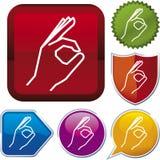Icon series: OK hand Royalty Free Stock Photo
