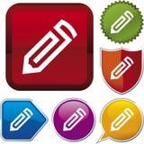 Icon series: pencil (vector) Royalty Free Stock Photos