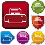 Icon series: printer Royalty Free Stock Image
