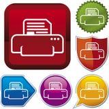 Icon series: printer Royalty Free Stock Image