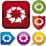 Icon series: process Royalty Free Stock Image