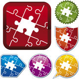 Icon series: puzzle Stock Images