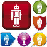 Icon series: robot Royalty Free Stock Photography