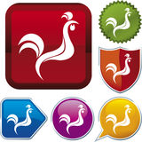 Icon series: rooster Stock Images