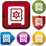 Icon series: safe box Royalty Free Stock Photo