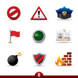 Icon series - safey. Safety set from series in my portfolio Royalty Free Stock Images