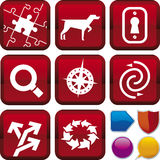 Icon series: search & find. Vector illustration of icon set: search&find, and buttons Stock Images