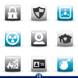 Icon series - security Stock Images