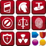 Icon series: security. Vector illustration of icon set: security, and buttons Royalty Free Stock Image