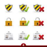 Icon series - security Royalty Free Stock Photography