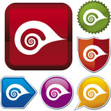 Icon series: shell Royalty Free Stock Image