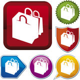 Icon series: shopping bags Royalty Free Stock Images