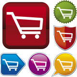 Icon series: shopping cart (ve Stock Photography