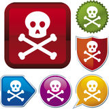 Icon series: skull (vector) Royalty Free Stock Photos
