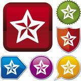 Icon series: star (vector) Stock Photo