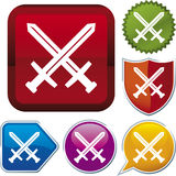 Icon series: sword Royalty Free Stock Photos