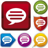Icon series: talk (vector) Royalty Free Stock Photos