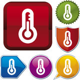 Icon series: thermometer Stock Photography