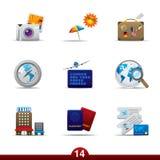 Icon series - travel Stock Photo