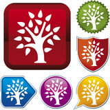 Icon series: tree (vector) Royalty Free Stock Images