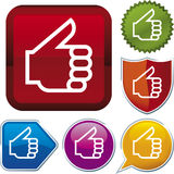 Icon series: tumbs up (vector) Stock Photography