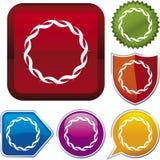 Icon series: wave circle Stock Photos