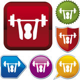 Icon series: weightlifting Royalty Free Stock Image