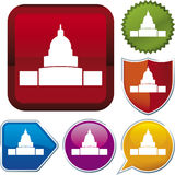 Icon series: white house Stock Images