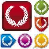 Icon series: wreath (vector) Royalty Free Stock Photo