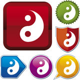 Icon series: yin yang Stock Photography