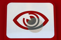 Icon services selection lenses. Painted on a white background and eye lens Royalty Free Stock Photo