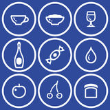 Icon set� food and drink (Vector) Stock Photography