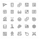 Icon set – game and toy vector illustration Royalty Free Stock Images