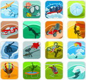 Icon set 05. Set of a adventure icons Stock Photo