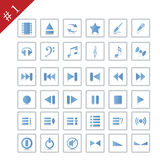 Icon set#1. Collection of different icons for using in web design. Set #1 Stock Photography