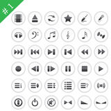 Icon set#1. Collection of different icons for using in web design. Set #1 Stock Photos