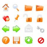 Icon set Stock Photo
