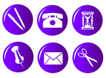 Icon set 104 Royalty Free Stock Photo