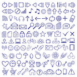 Icon Set. Vector hand-drawn icon set Royalty Free Stock Photos