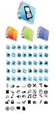 Icon set Royalty Free Stock Photos