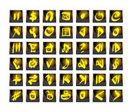 Icon set. Of 42 objects Stock Photography
