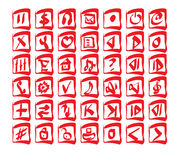 Icon set. Of 42 objects Stock Images