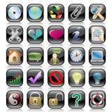 Icon set. Web icons set: internet theme (25 icons Royalty Free Stock Images