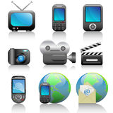 Icon set. Web icons set: internet theme (9 icons Royalty Free Stock Photography
