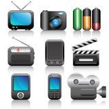 Icon set. Web icons set: internet theme (9 icons Royalty Free Stock Image