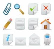 Icon set. Web icons set: internet theme (12 icons stock illustration