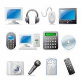 Icon set. Web icons set: internet theme (12 icons Stock Photo