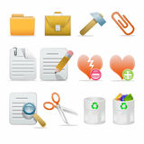 Icon set. Web icons set: internet theme (12 icons Royalty Free Stock Images