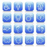 Icon set. Web icons set: internet theme (16 icons Vector Illustration
