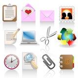 Icon set. Web icons set: internet theme (12 icons Stock Photography